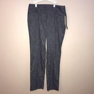 JM Collection Slim Leg Pants. Gray/Black Size 8